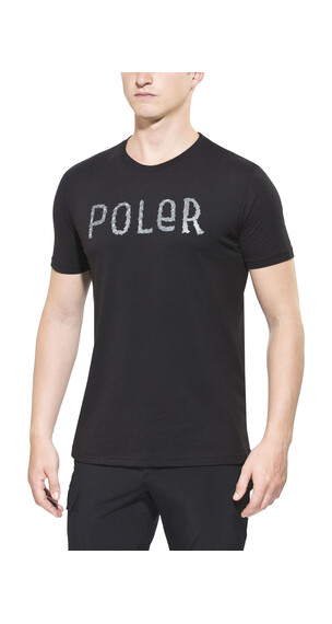 POLER Furry Font Tee Men black
